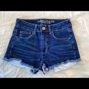 American Eagle size 4 high rise jean shorts